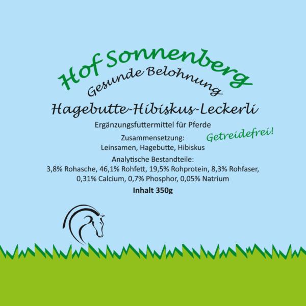Hagebutte-Hibisku-Leckerli (getreidefrei)