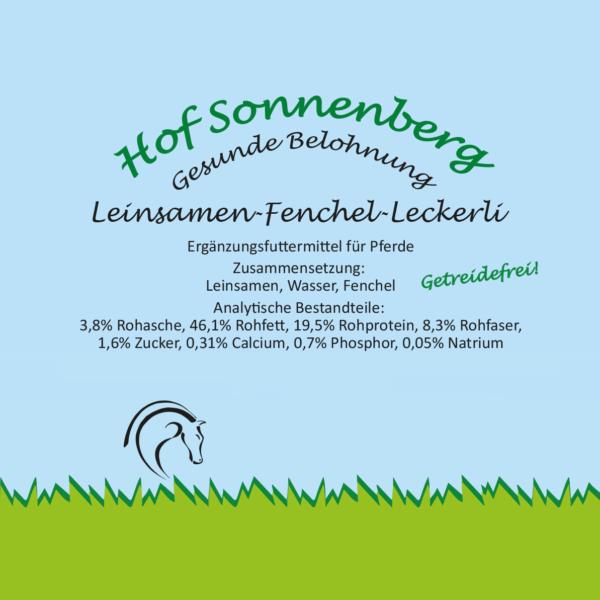 Leinsamen-Fenchel-Leckerli (getreidefrei)